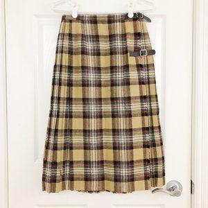 Vintage Mosbrook Pure Wool Plaid Tartan Skirt Kilt